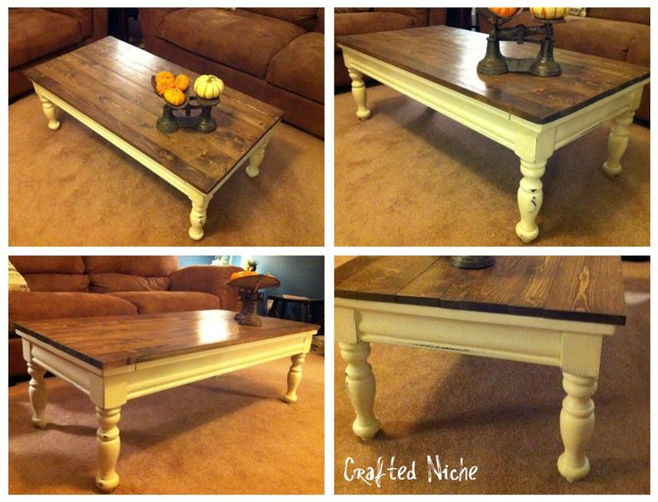 Redo old coffee table. Pretty sure this coffee table is sitting in our basement waiting to be redone.