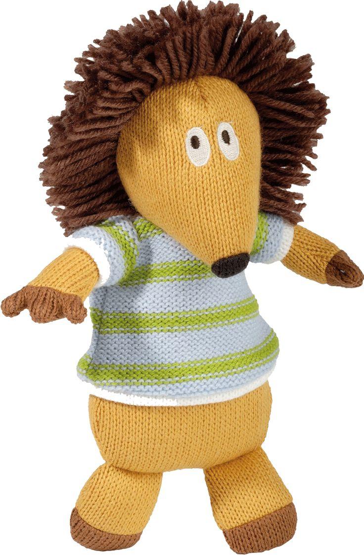 Hugo le hérisson des personnages de la Wooly Family par Latitude Enfant. Jouet ludique. Doudou d'éveil. Produit de puériculture.