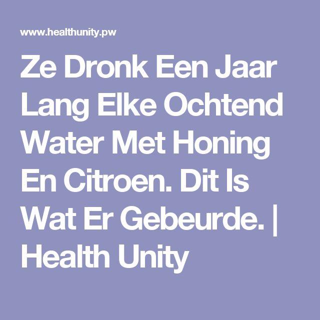 Ze Dronk Een Jaar Lang Elke Ochtend Water Met Honing En Citroen. Dit Is Wat Er Gebeurde. | Health Unity