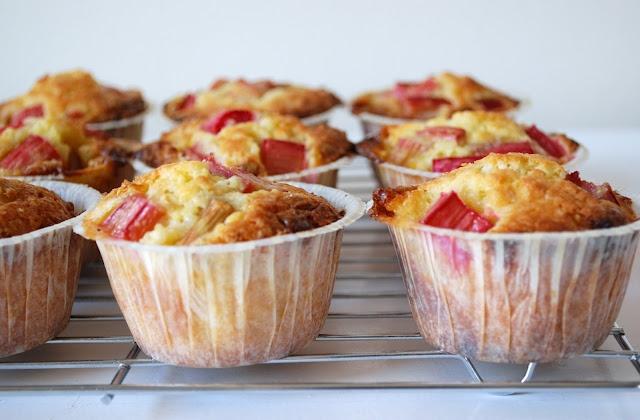 rabarber muffins