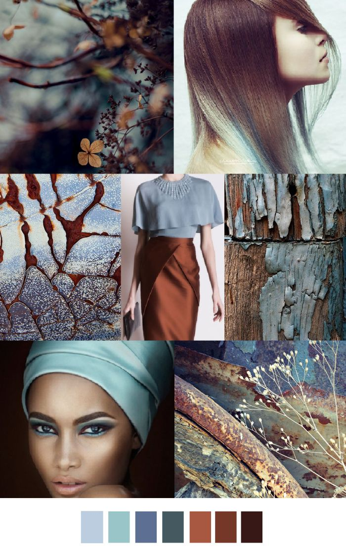 FASHION VIGNETTE: TRENDS // PATTERN CURATOR . PRINT, PATTERN + COLOR - AUTUMN BLUES/CINNAMON CHAI