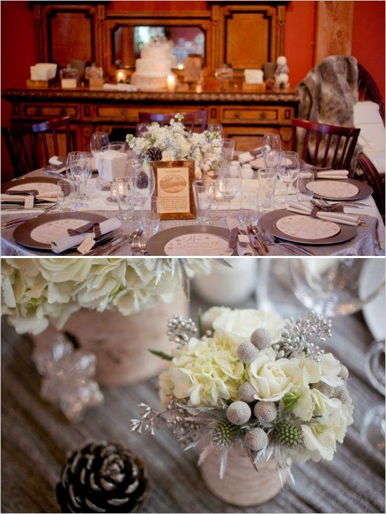 elegant winter wedding #weddingreception #winterwedding #weddingchicks http://www.weddingchicks.com/2014/03/06/whimsical-winter-wedding/