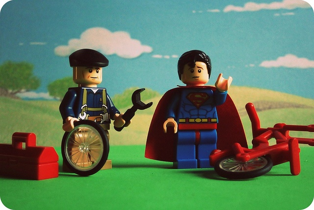Bicycle Repair Man, Our Hero! #rdl #lego #hero