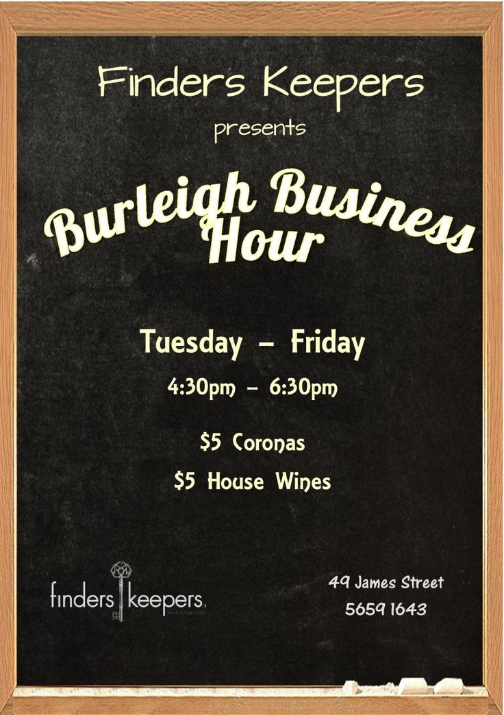 Burleigh Business Hour