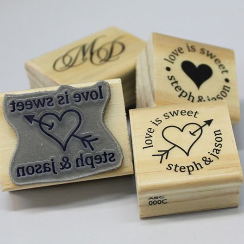 Custom made Rubber Stamp Small Perfect for weddings or business
