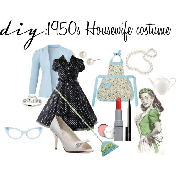 """""""DIY: 1950s Housewife costume"""" by theekissoflife on Polyvore"""