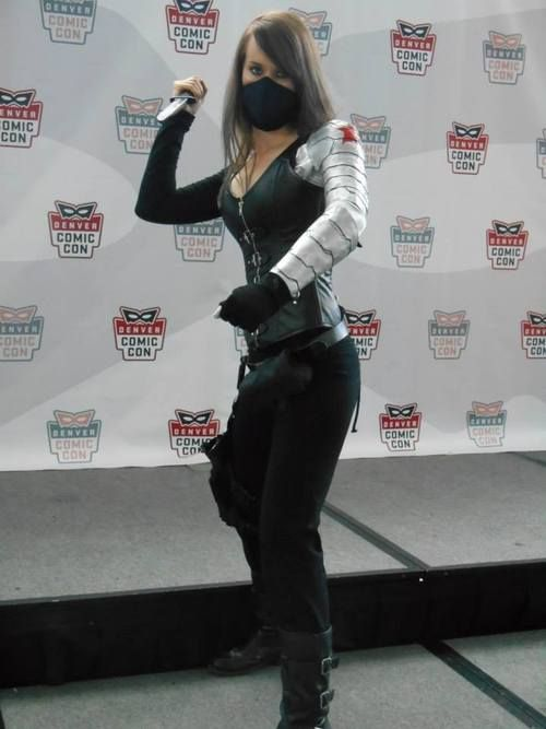 Female Winter Soldier Cosplay at Denver Comic Con 2014 by Jaime. (More images of the cosplay on outoftheclosetcosplay and http://dragonvet15.tumblr.com/)