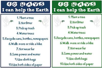 Earth Day 10 Ways I Can Help The Earth My Blog Enjoy
