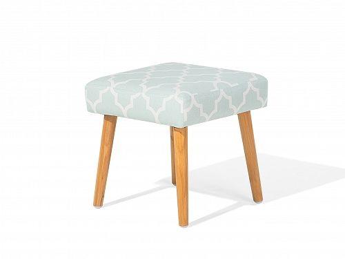 Hocker Pastellblau - Sitzhocker - Ottomane - Pouf - Fusshocker - Sitzwürfel - OSAGE_659419