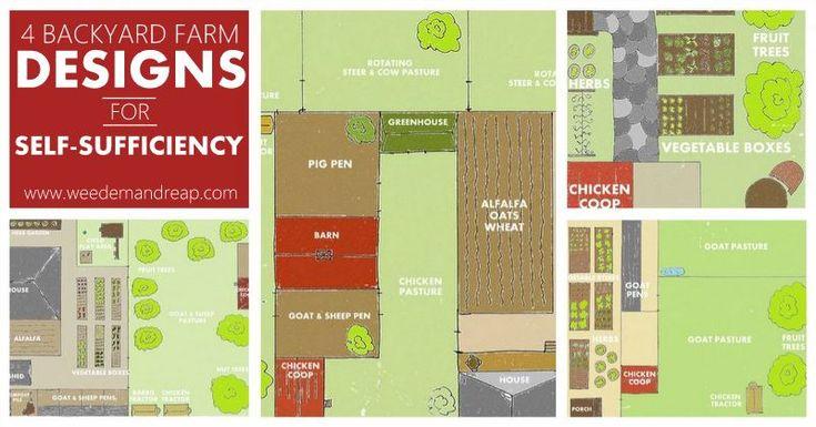 4 Backyard Farm Designs For Self Sufficiency Backyards
