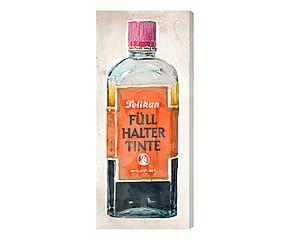 Stampa da parete canvas su legno Vintage Inks 3 - 76x30x4 cm