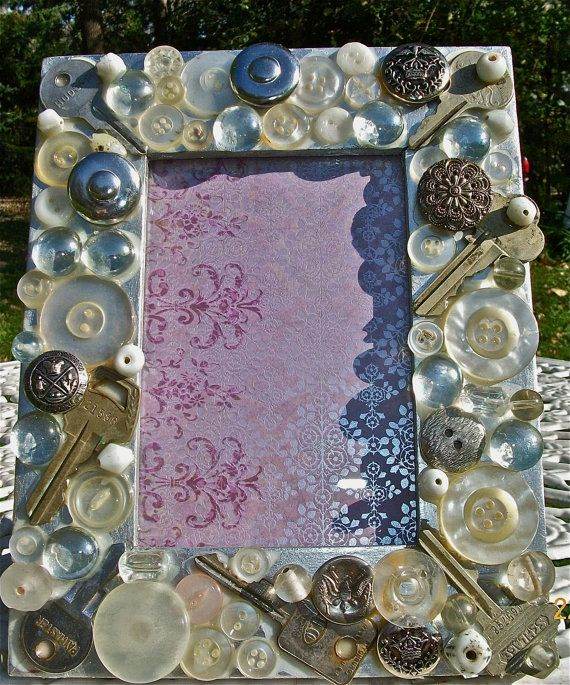 Mosaic Picture Frame by CasaKarmaDecor on Etsy, $25.00