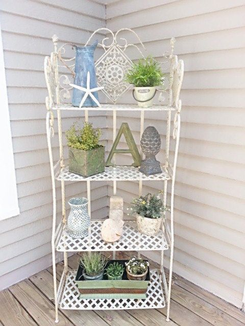 Shabby Chic Bakers Rack PICK UP ONLY  Etagere by FarmhouseStyles, $100.00