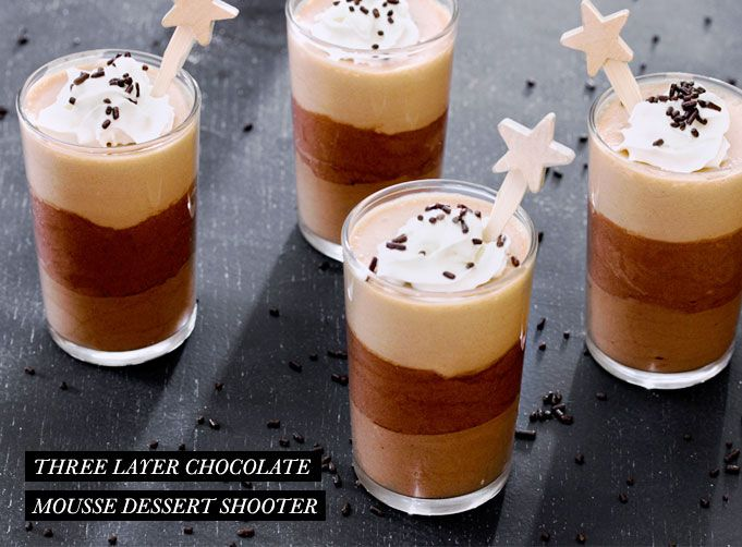 Three Layer Chocolate Mousse Dessert Shooter | Rue