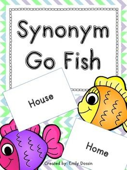 Synonym Go Fish Game! This is a fun game that gets students reading synonyms and identifying their meanings.If your kids love this, check out my similar Antonyms Go Fish Game in my store!