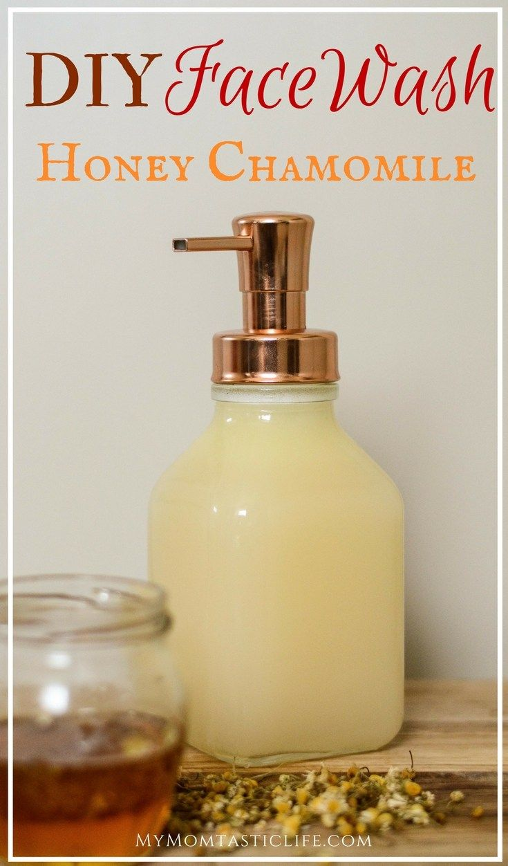 Diy face wash honey chamomile for sensitive skin and antiaging