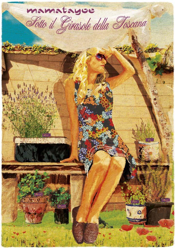 """""""Sotto il Girasole della Toscana"""" by Mamatayoe. Postcard #3. PV14."""