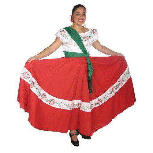 """Zacatecas. Dicha vestimenta consiste de una falda de paño rojo, con línea """"A"""" en frente, ya que atrás tiene tablones."""