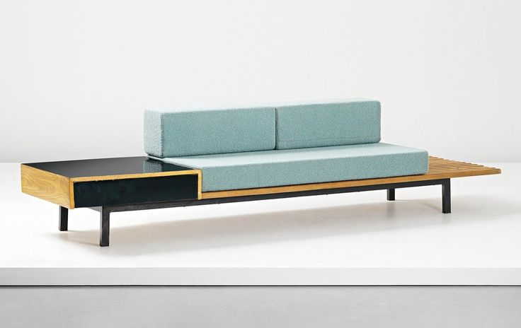CHARLOTTE PERRIAND - Bench with side table and drawer from Cité Cansado, Cansado, Mauritania, circa 1958