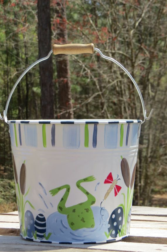 68 Best Hand Painted Pails Images On Pinterest Easter