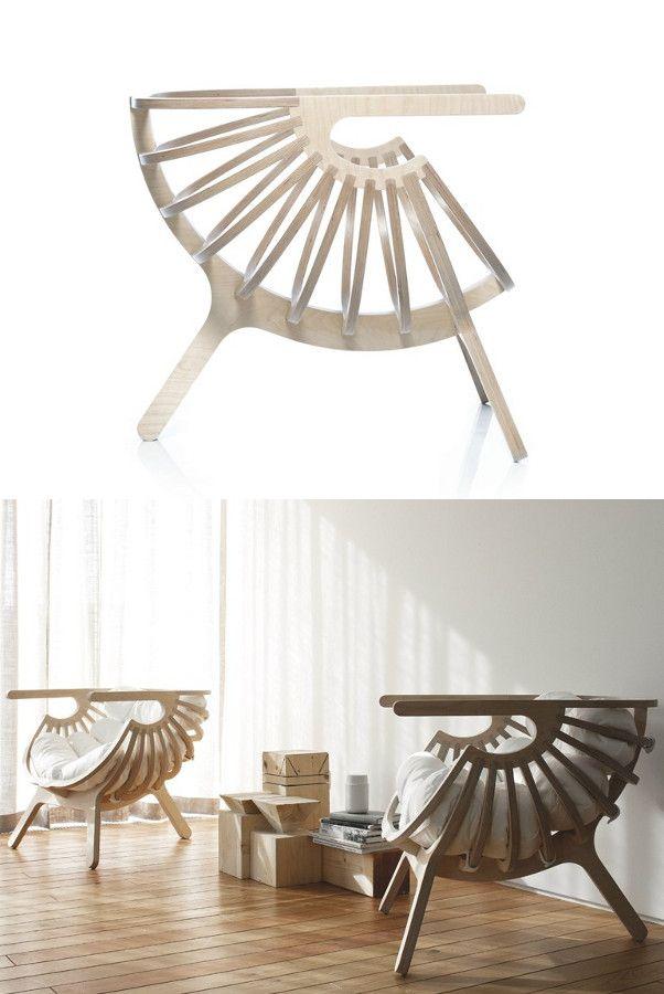 Multi-layer #wood #chair SHELL CHAIR by Branca-Lisboa   #design Marco Sousa Santos @brancastore
