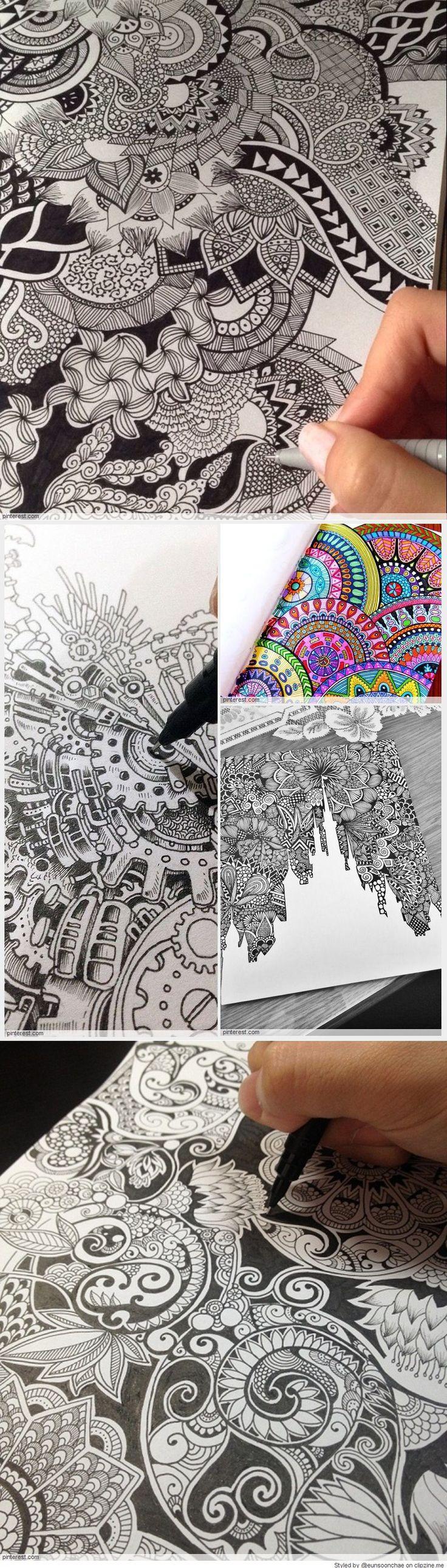 Dibujos Zentangle                                                                                                                                                                                 Más
