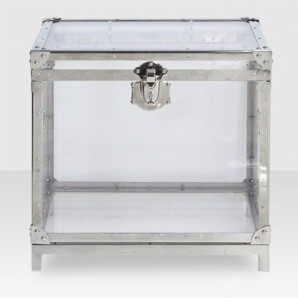 Harvey Trunk End Table   VERY COOL   Steel