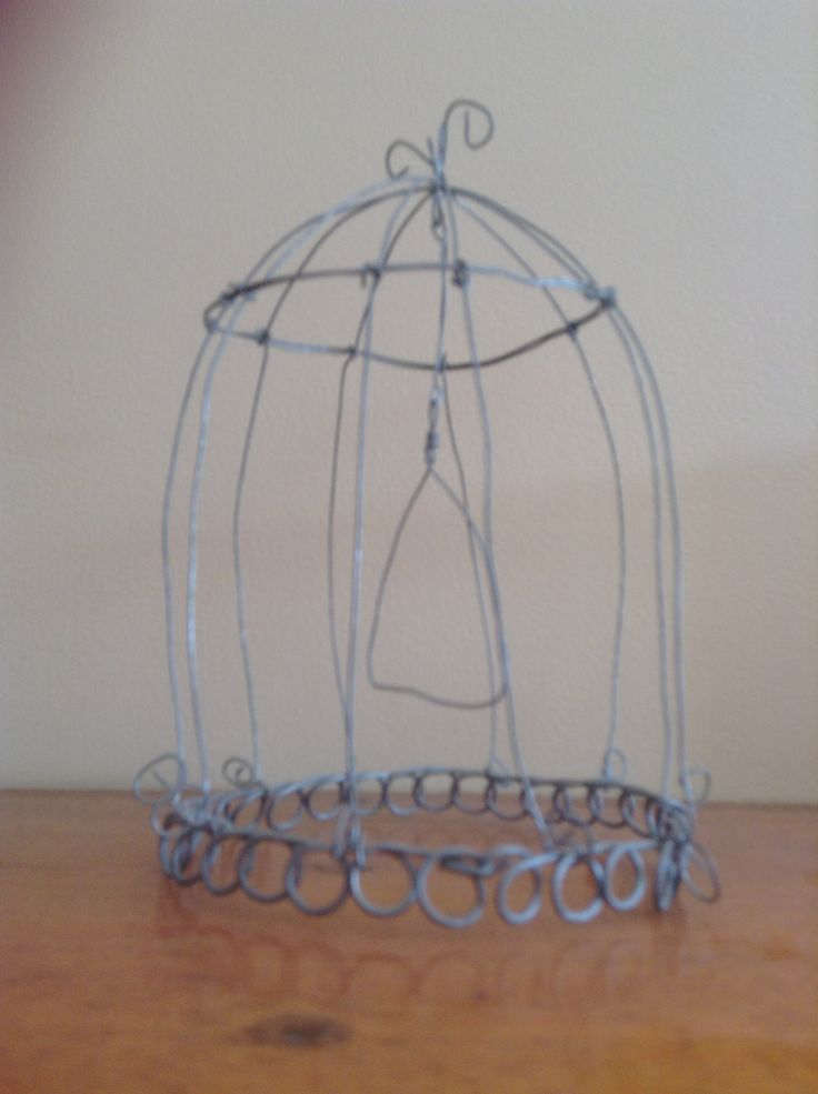 Hand made ornamental bird cage.  By Kylie Bailey.