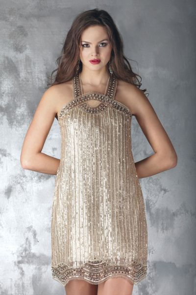 Randa Salamoun Couture - champagne cocktail dress