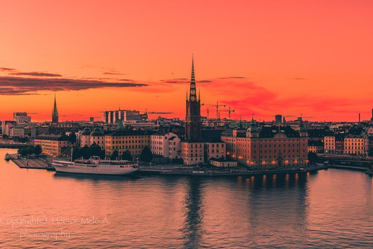 Sunset over Stockholm by Hector Melo A. on 500px