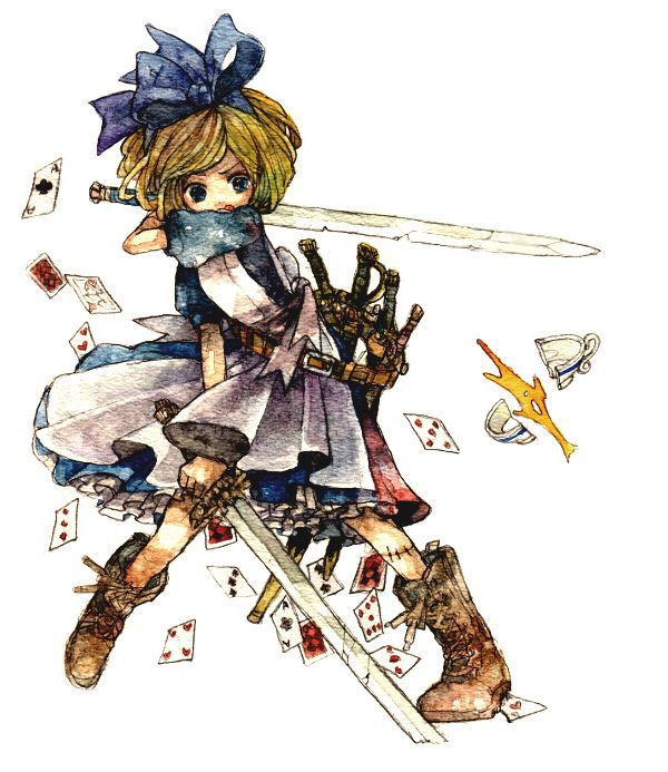Fairy Tale Battle Royale | The Mary Sue Alice in Wonderland ready for battle!