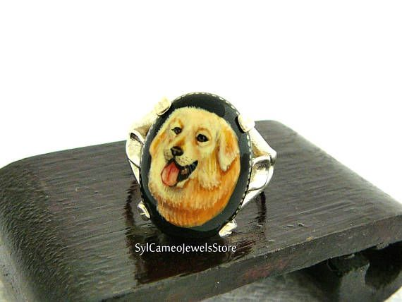 Hey, I found this really awesome Etsy listing at https://www.etsy.com/listing/537935460/golden-retriever-dog-hand-painted-cameo
