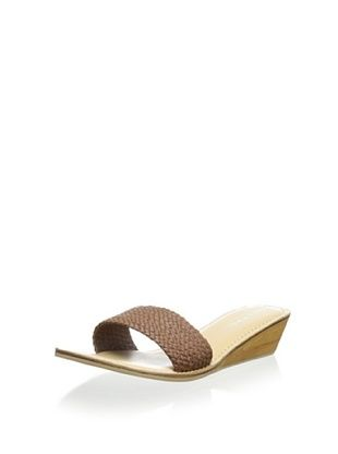 64% OFF Lara + Lillian Women's Bennett Slide Demi Wedge Sandal (Tan)