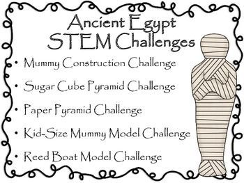 Engineering Ancient Egypt: STEM Engineering Challenges Five Pack!  $8 tpt