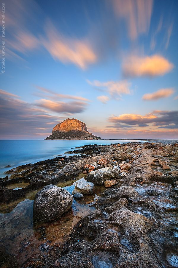 The famous Rock of #Monemvasia, located in #Lakonia prefecture in #Peloponnese Greece. There is also an entire city built into the other side of the rock that is only visible from the sea! It is a must see if you are in the area and is totally FREE! Just walk across the bridge and follow the signs.