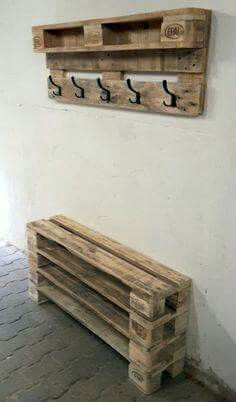 Garage organizer for shoes/ outdoor coats etc/ mudroom idea