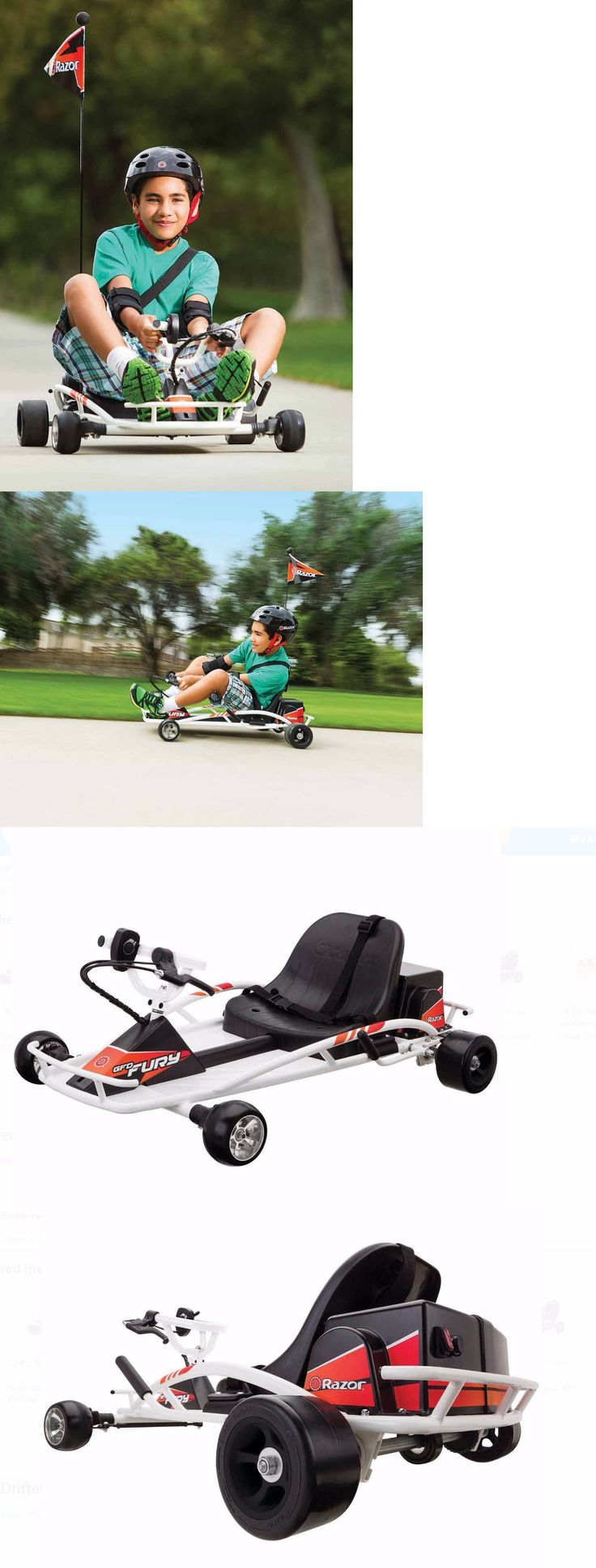 Complete Go-Karts and Frames 64656: Go Karts For Kids Electric Razor Dune Buggy Cart Scooter Battery Throttle Ride -> BUY IT NOW ONLY: $379.99 on eBay!
