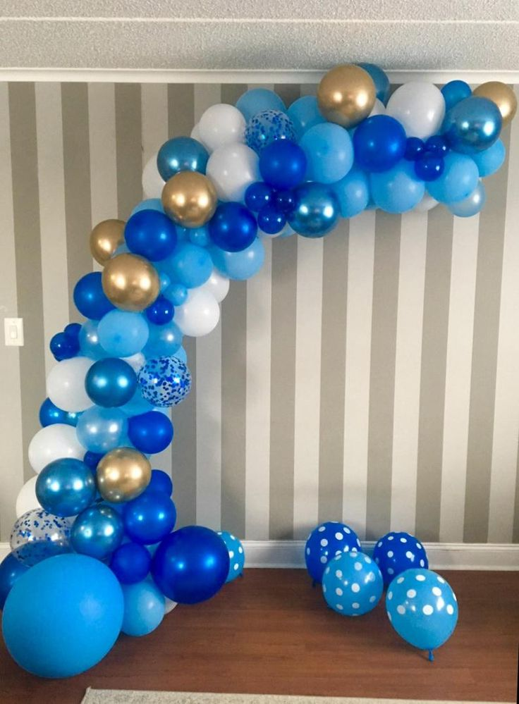 120 pcs boy baby shower balloon garland kit moon and star