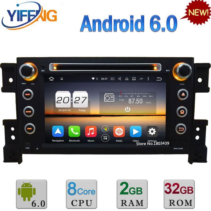 4G Android 6.0 WiFi 32GB ROM Octa Core 2GB RAM RDS Car DVD Radio Player Stereo For Suzuki Grand Vitara 2005-2011 GPS Navigation #Affiliate