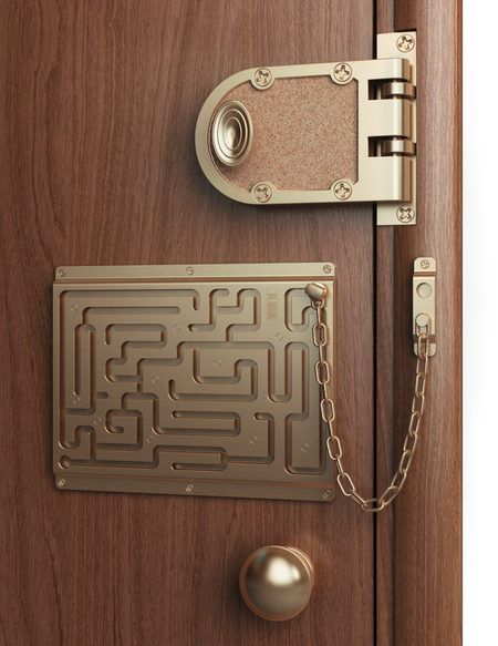 Lebedev Defendius Door Chain. You'll think twice before you let someone in or before you leave your apartment. At least it's childproof!