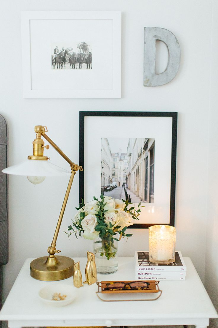 Bedside table lamp ideas - 15 Bedside Table Shelfies To Copy For Yourself