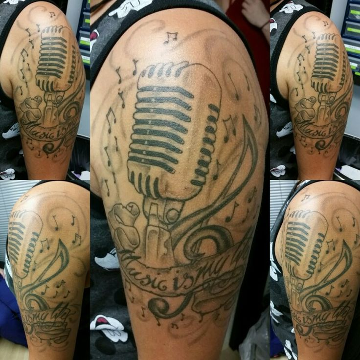 Microphone tattoo by Jeffrey Ziozios at Bay City Tattoos in Tampa Florida #tattoo #tattoos #tattooed #tattooing #tattooist #girlswithtattoos #guyswithtattoos #cute #cutegirl #tattooshop #tattooshops #art #artist #artists #tattooartist #girls #girltattoo #girltattoos #ink #inked #blackandgreytattoos #blackandgreytattoo #blackandgrey #google #mic #microphone #microphonetattoo
