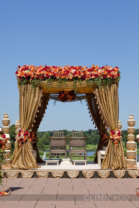 Beach Indian Wedding - not loving the colors but the concept works