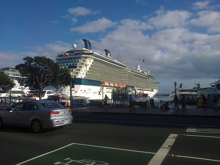 Celebrity cruise ship in Auckland, NZ