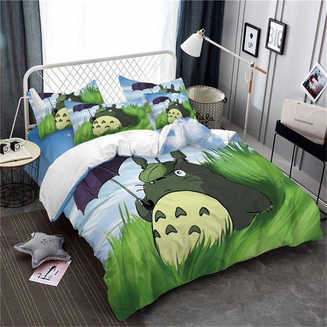 Copripiumino Totoro.Cute 3d Totoro Bedding Set 4 Varian Cute Duvet Covers Totoro