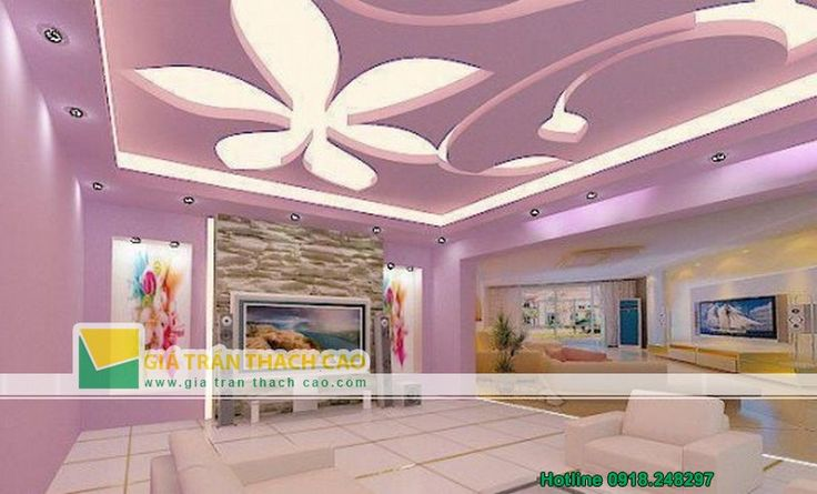 Thiết kế trần thạch cao cho phòng ngủ trẻ em 03