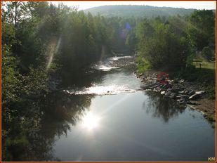 Pêche sur la rivière Osgood à Kinnear's Mills