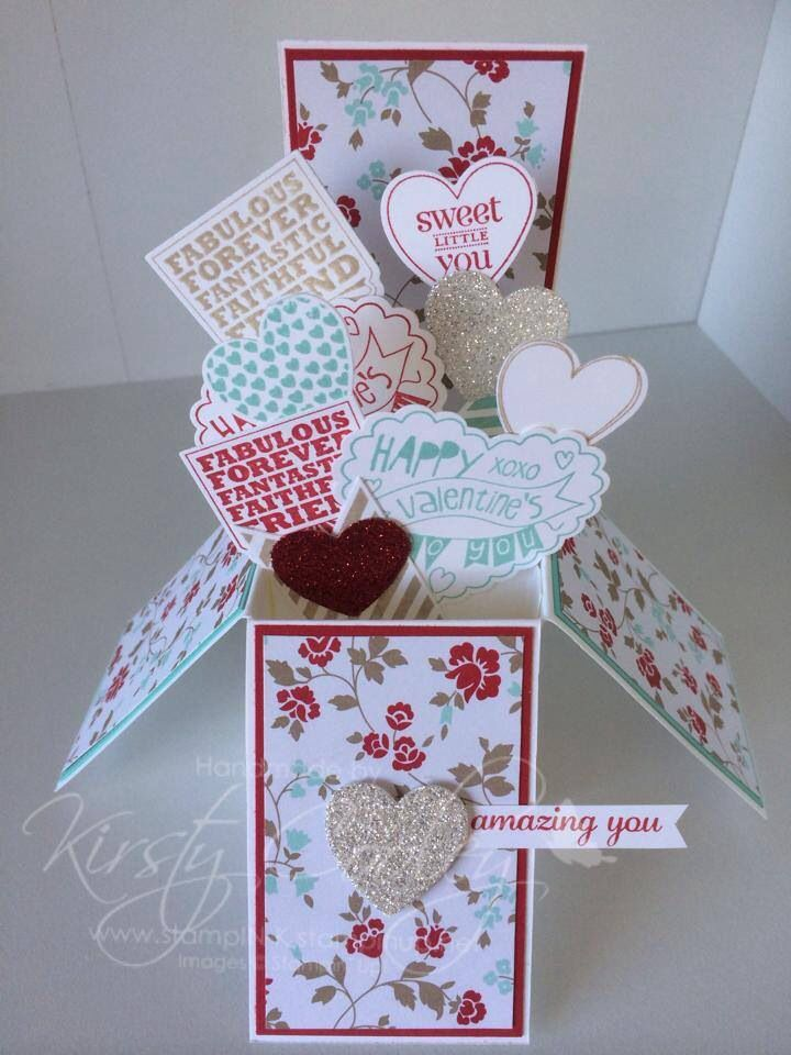 Card in a box by StampIN-K using Stampin' Up! Products.
