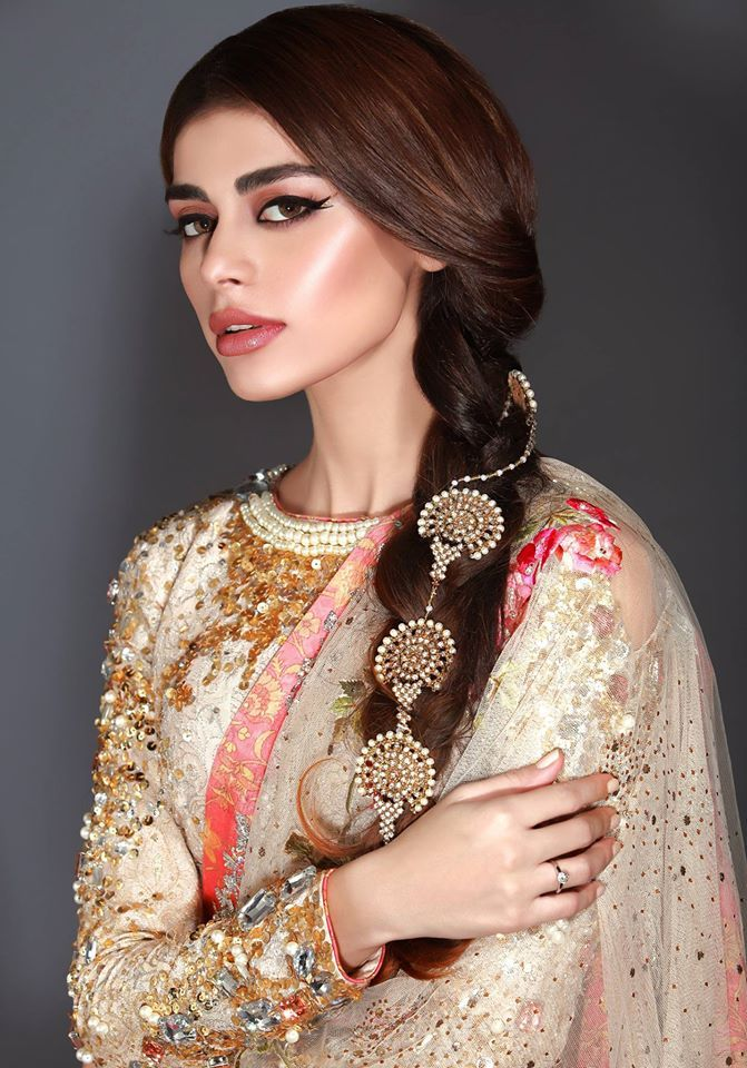 """Sleek, decorated braids, with flawlessly... - High Fashion Pakistan"
