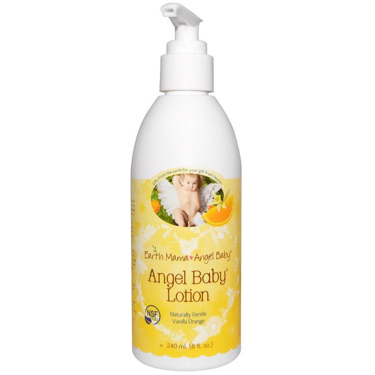 Earth Mama Angel Baby, Лосьон Angel Baby, натуральный аромат ванили и апельсина, 8 жидких унций (240 мл)
